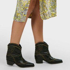 Ganni Low Texas Black Boots EU 38